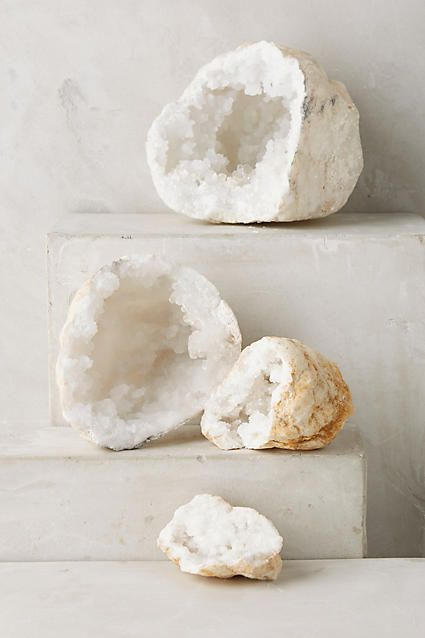 Calcite Geode Pair - anthropologie.com