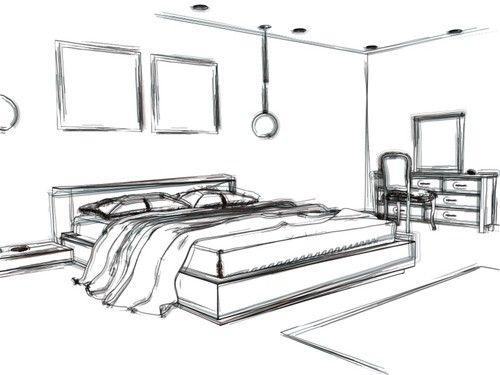interior design sketches living room - Google Search