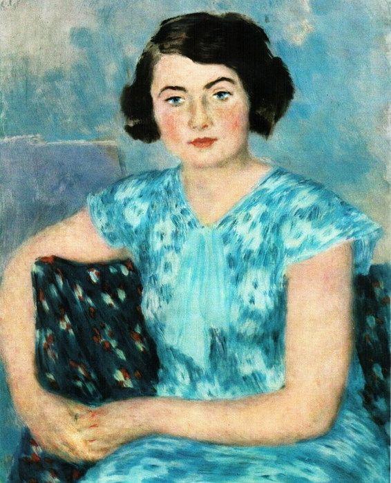 М.П. Рит в голубом. 1935 (566x700, 125Kb)