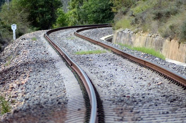 India train road , it means Railway track pic