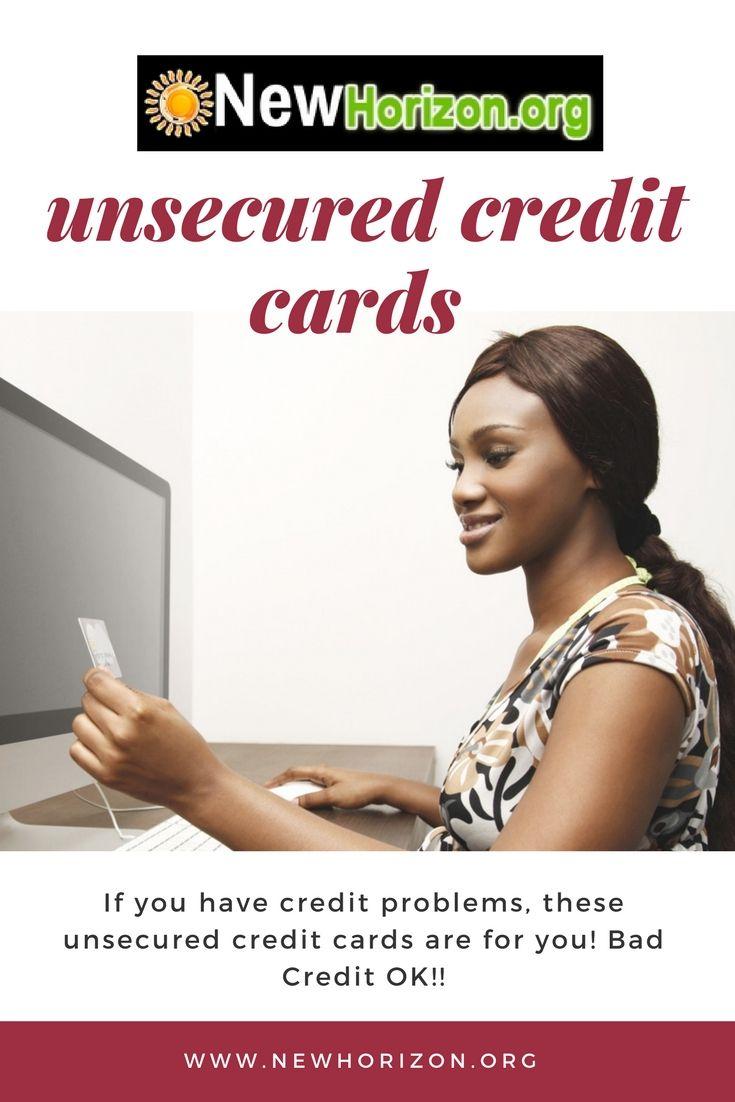 Unsecured Credit Cards Bad No Credit Bankruptcy O K