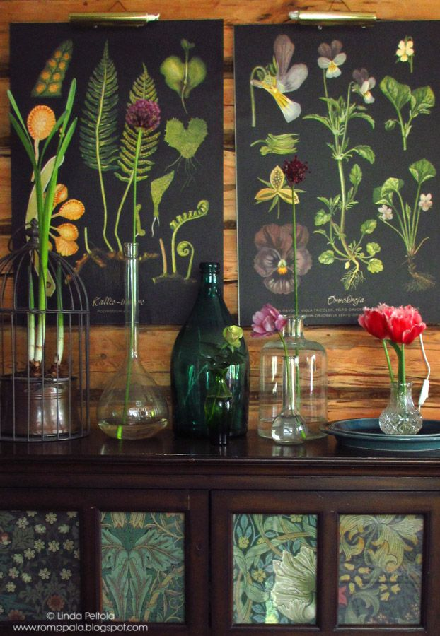 Botanical style with Ebba Masalin and William Morris at  Romppala - Lindan pihalla: Botanical-tyyliin