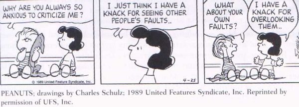 Cartoon for Fundamental Attribution Error                                                                                                                                                      More
