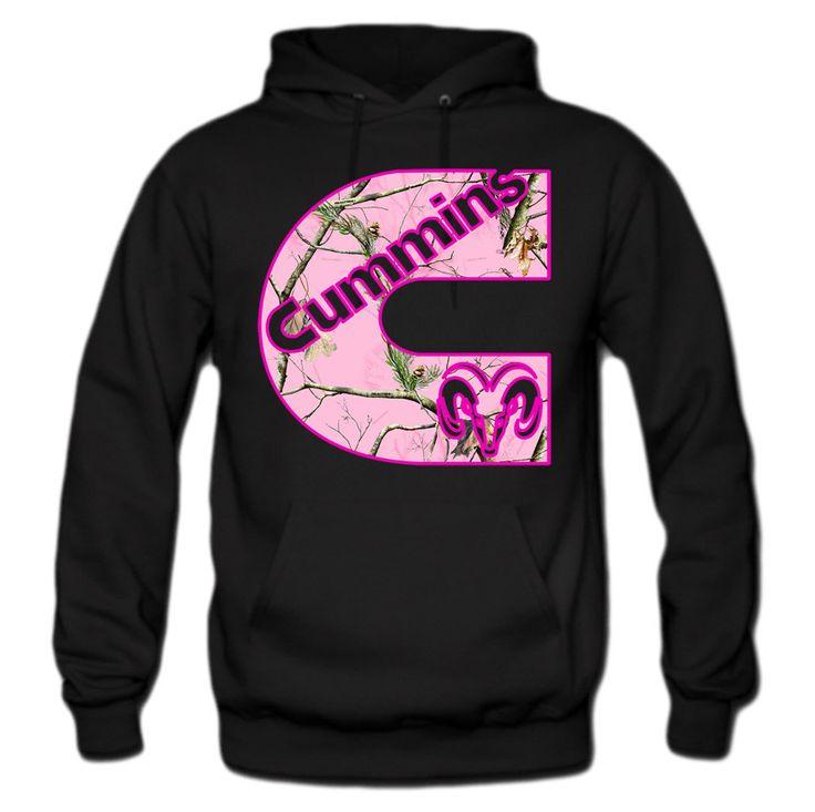 Cummins Pink Camouflage Print Hoodie