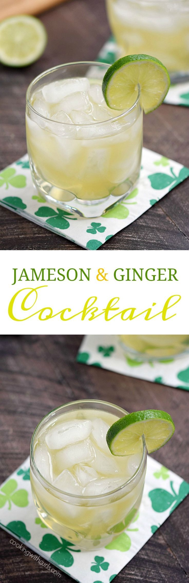 This Jameson & Ginger is guaranteed to have your Irish eyes smiling with it's light and refreshing flavors even if you aren't Irish! http://cookingwithcurls.com