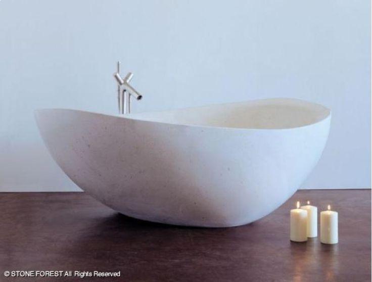 Baño De Tina Natural:Tina de #bano fabricada en #piedra~