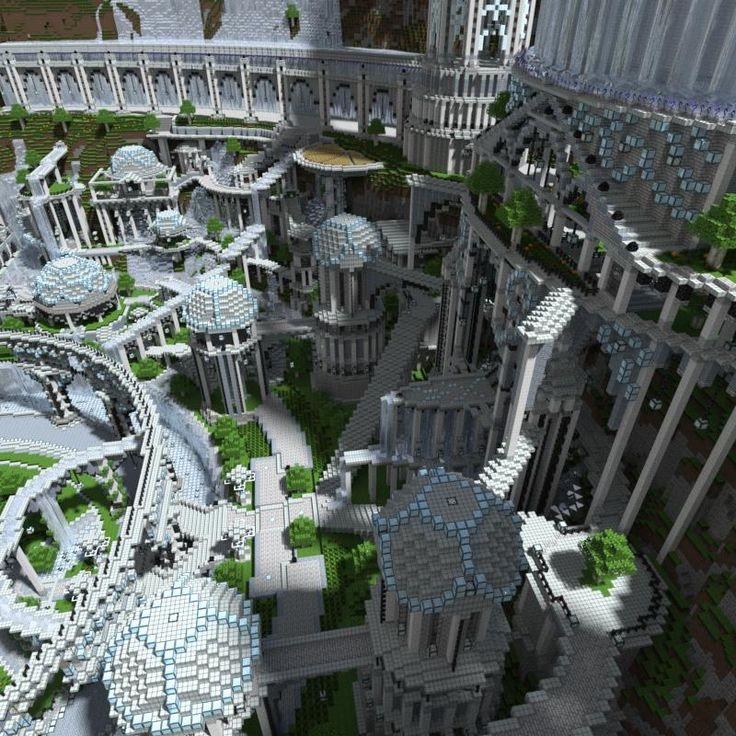 3 months and 60 million blocks - a fantasy city in Minecraft - Minecraft