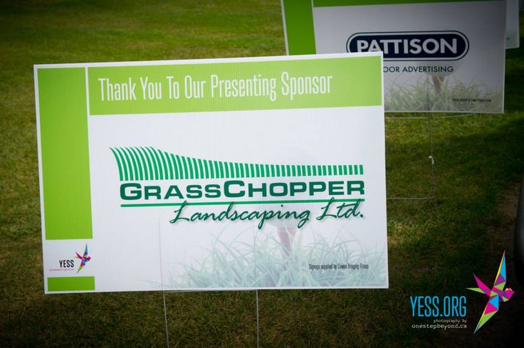 An amazing local business that supports local youth - our presenting sponsors for the 2013 & 2014 YESS Charity Golf Classic! http://www.grasschopperlandscaping.com/