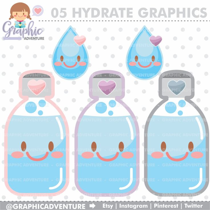 75%OFF - Hydrate Clipart, Hydrate Graphics, COMMERCIAL USE, Kawaii Clipart, Planner Accessories, Hydration, Water Clipart, Water Graphics
