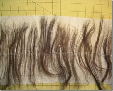 how to make wefting for doll wigs