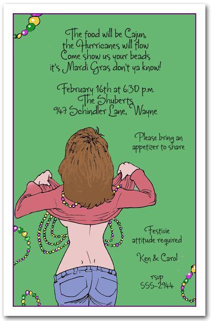 Show us your BeadsParty Invitation, Mardi Gras Invitations