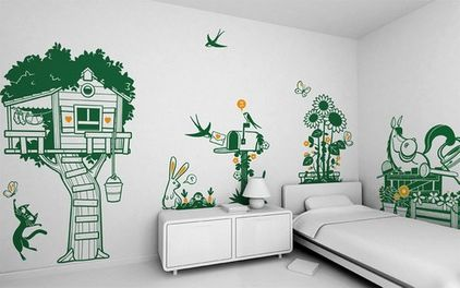 рисунки на стене цветы