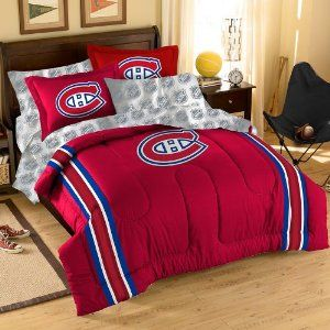 Amazon.com: Montreal Canadiens Bed in a Bag Comforter Set: Sports & Outdoors