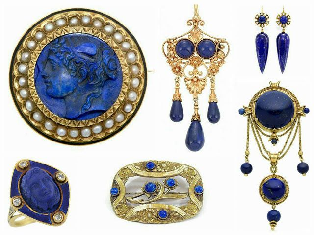 Greeks and Romans fell under the splendor of the Middle East, making the lapis lazuli important part of your jewelry.