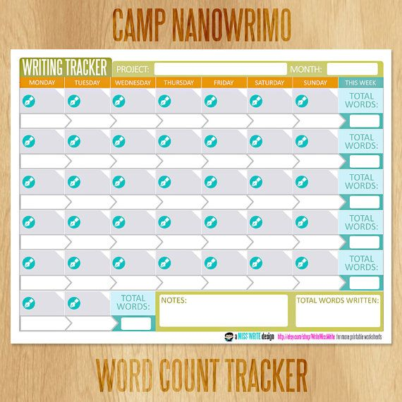 17+ Nanowrimo schedule info