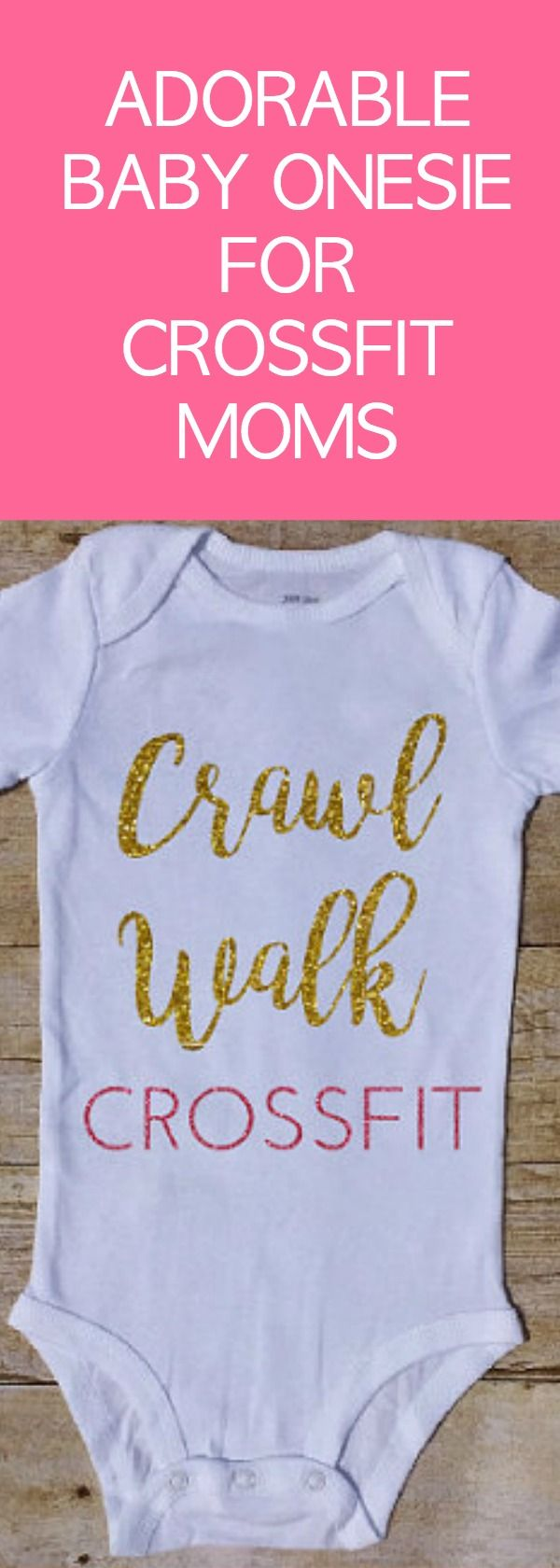 Crawl Walk Crossfit Outfit, WOD baby, lift Baby, Girl bodysuit, Baby Girl Outfit, deadleft baby, Workout baby, Baby Shower, kettlebell Butt #aff