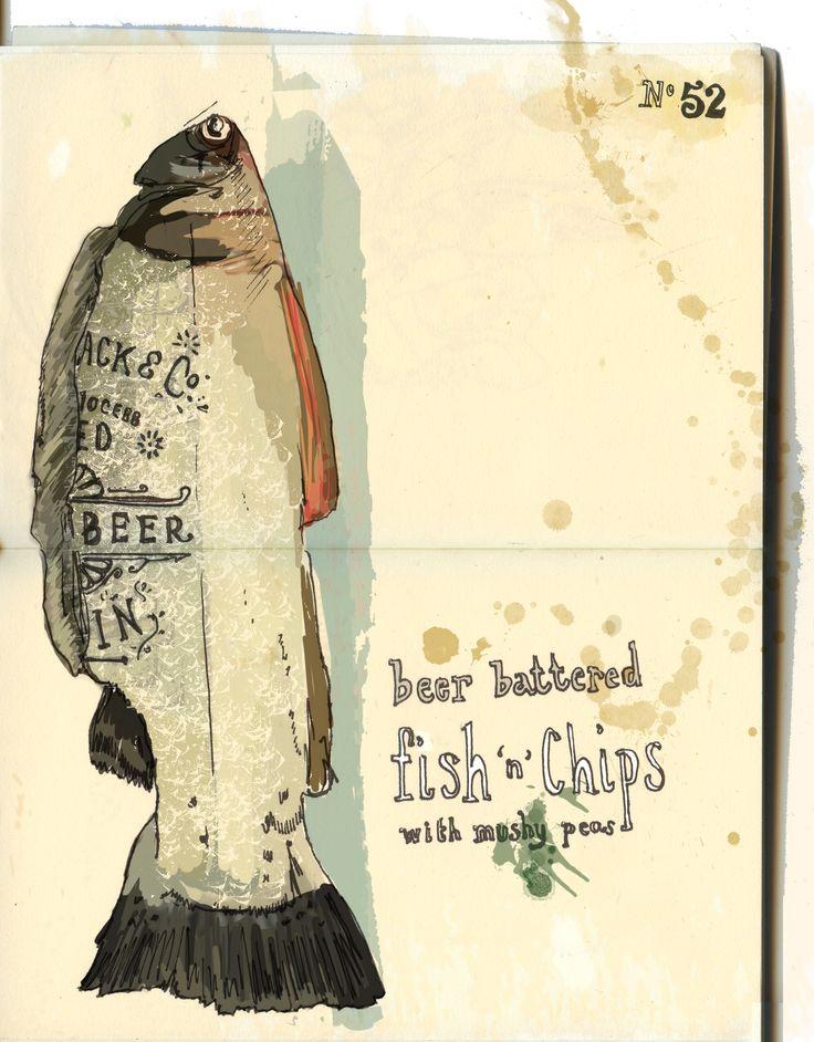 Jo Bird | Fish food illustration