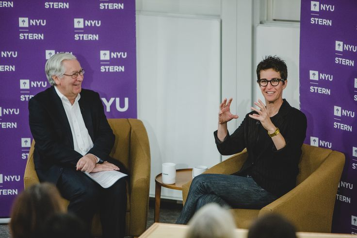 Interview Possible: On October 25, Lord Mervyn King interviewed Emmy Award-winning MSNBC host Rachel Maddow at NYU Stern.