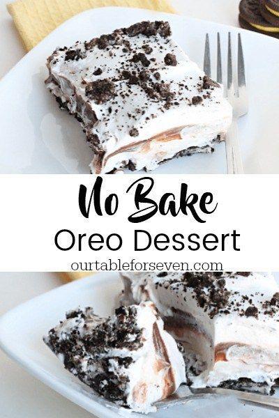 Kein Bake Oreo Dessert – essen