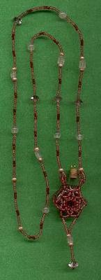 Beaded Bottle Necklace - Bead Around a Bottle