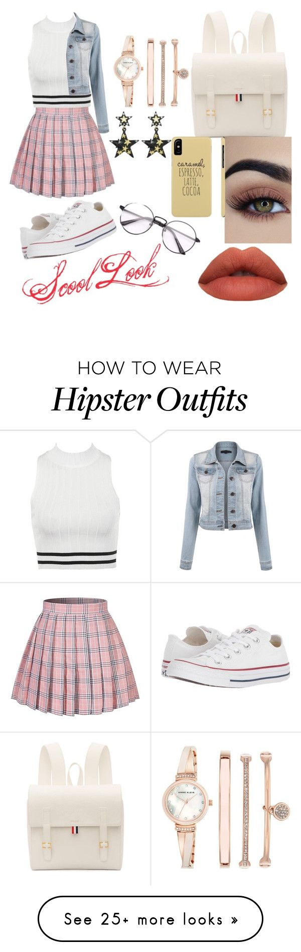 """""""School Look"""" by cl-chan on Polyvore featuring Converse, Thom Browne and Anne Klein"""