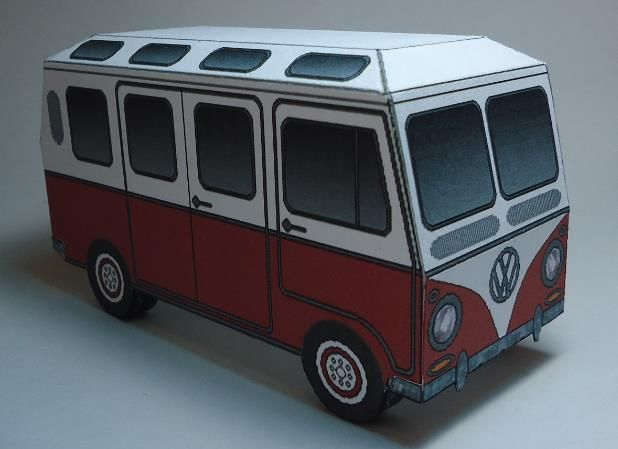 This Is An Easy To Build Paper Model Of The Volkswagen Kombi Type II 19 Windows I Know Right 21 Windowsbut Did It With Windo