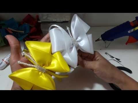 Como fazer laço pra Recém Nascido com meia de seda - YouTube