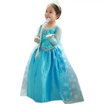 ➢ Compra Vestido de Princesa para Niña Elsa Frozen-Azul online   Linio México