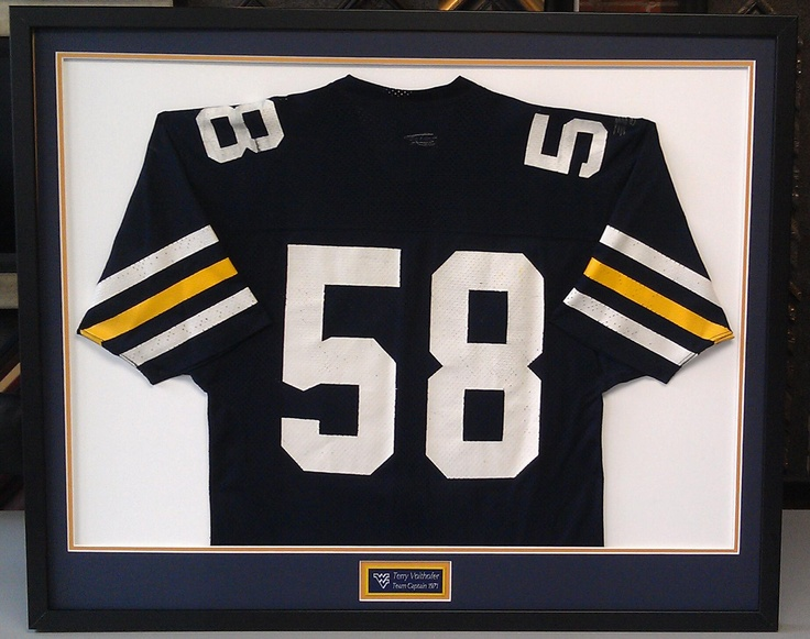 Game worn vintage West Virginia football jersey from the