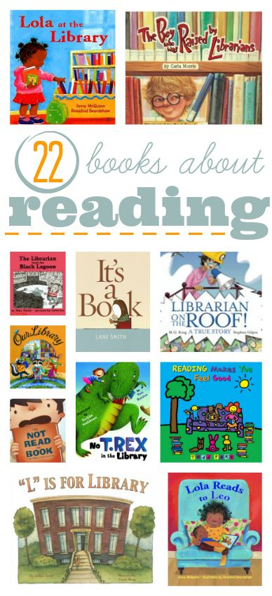 Great list of books about reading for kids.