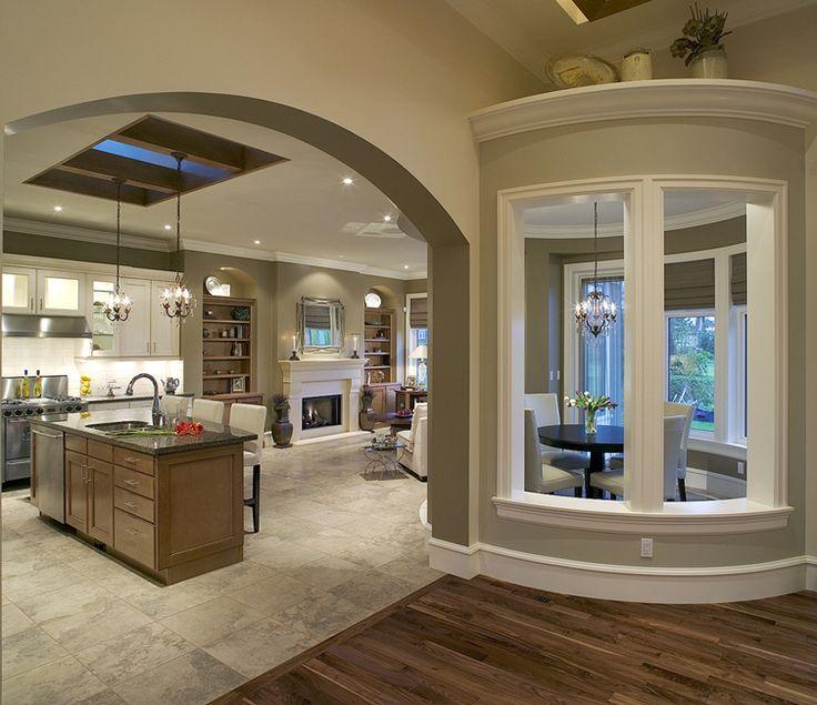 LOVE The Round Nook With Interior Windows Kitchen