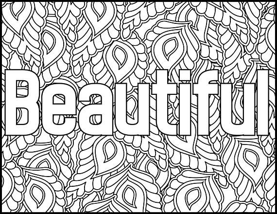 Positive Affirmations Coloring Pages for AdultsBeautiful