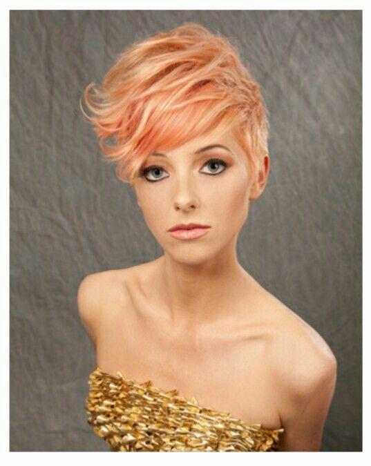 Peachy Pixie cut