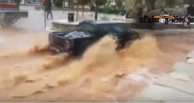 Άνοιξαν οι ουρανοί στη Σύμη (Video & Photos)