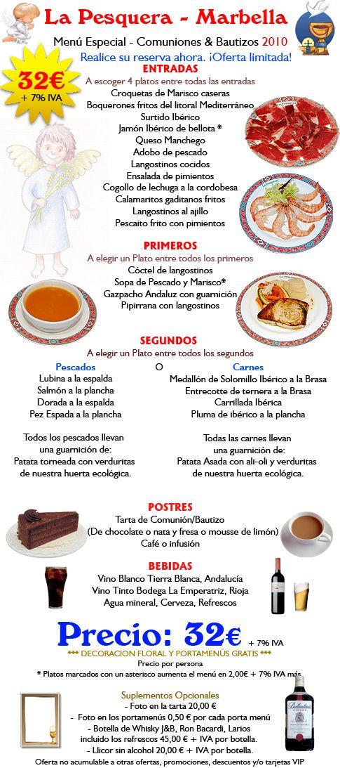 Menu - La Pesquera #precios #comida #restaurante