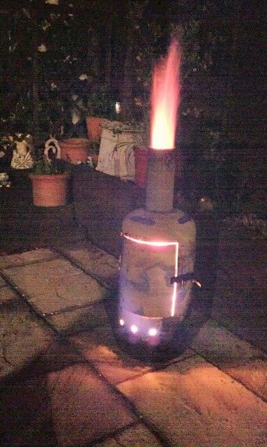 My Garden burner. Made from an old gas bottle.