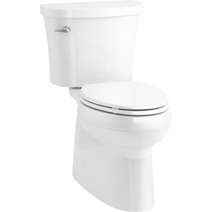 Kohler Memoirs Classic 2 Piece 1 28 Gpf Single Flush Round Toilet With Aquapiston Flushing Technology In White K 3986 0 The Home Depot En 2020