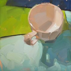 Carol Marine's Painting a Day: Simple Cup 1