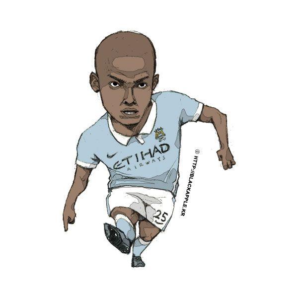 Manchester City No.25 Fernandinho Fan Art