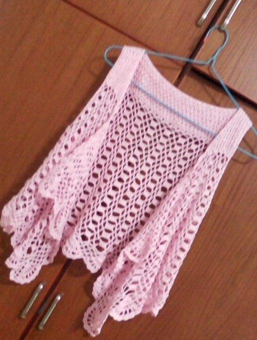 Diagrammed pink vest