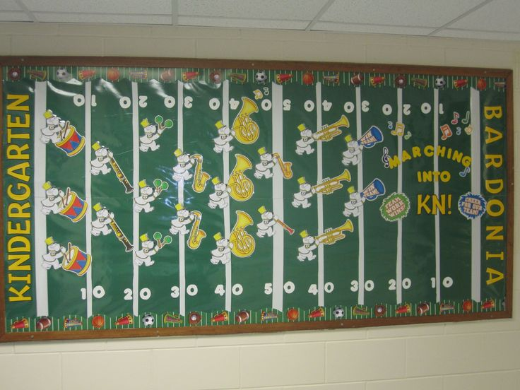 Looking for a sports themed bulletin board? Check out how they used CTP's Sports Border around their field! Great bulletin board ideas!