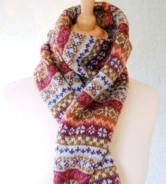 Fair Isle Scarf - Reserved Listing for Jacky