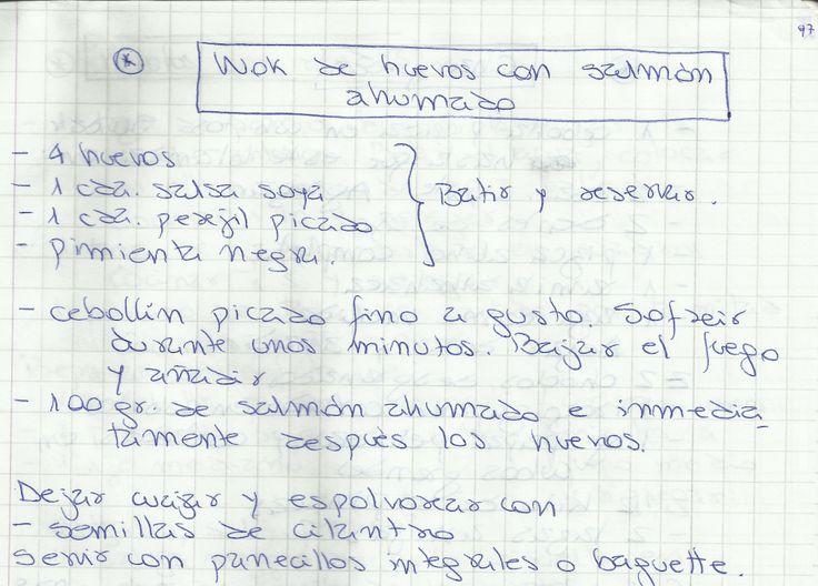 WOK DE HUEVOS CON SALMÓN AHUMADO   #SALADO #PLATOS #CARNE #PESCADO