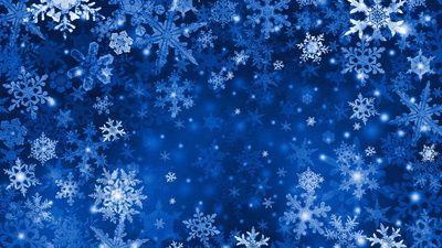 снежинка, синий, снег