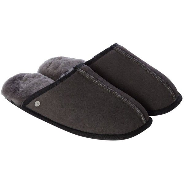Just Sheepskin Mule Contrast Detail Slipper (€73) ❤ liked on Polyvore featuring men's fashion, men's shoes, men's slippers, men nightwear, mens sheepskin shoes, mens shoes, mens sheepskin slippers, just sheepskin mens slippers and mens slippers