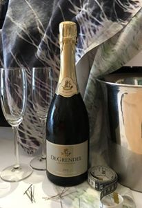 Getting ready for Rachel Smith to come in for her first fitting for #thedress with some De Grendel Wine MCC Brut
