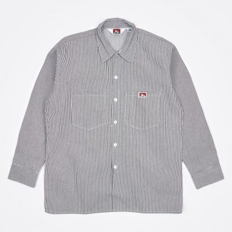 Long Sleeve Work Shirt - Hickory Stripe