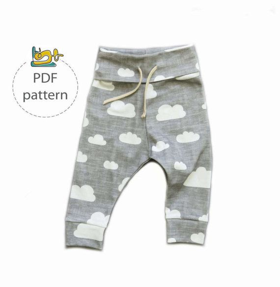 Baby pants sewing pattern jogger pants pattern baby leggings