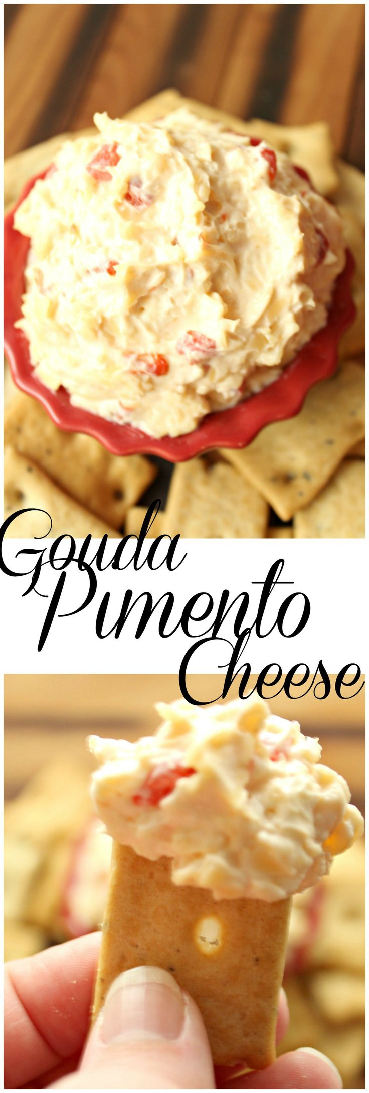 Gouda Pimento Cheese is an awesome twist on a favorite snack that is perfect for the Spring and Summer seasons outside. So delicious and easy to make!