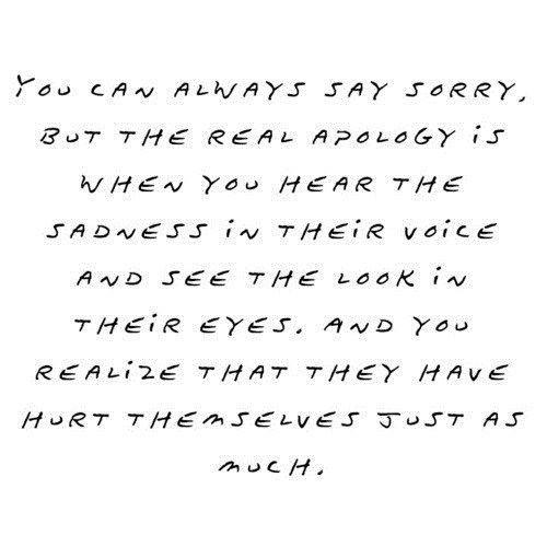 Apology.